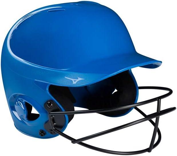 Large//X-Large Royal Mizuno MVP Series Solid Batting Helmet with Fastpitch Softball Mask