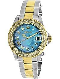 Invicta Women's Sea Base Gold-Tone Steel Bracelet & Case Swiss Quartz Blue Dial Analog Watch 20368