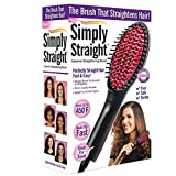 electric straighten comb - Aoile Faster Heating Safe Straighten Hairdressing Brush Comb Magic Barber Tools Electric Hair Brush Auto Tangle Hair Straightener Hair Styling (Black UK plug)