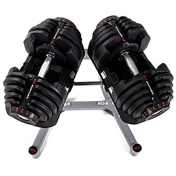 SG bowflex selecttech - Set 2 mancuernas de 40kg/u ajustable con ...