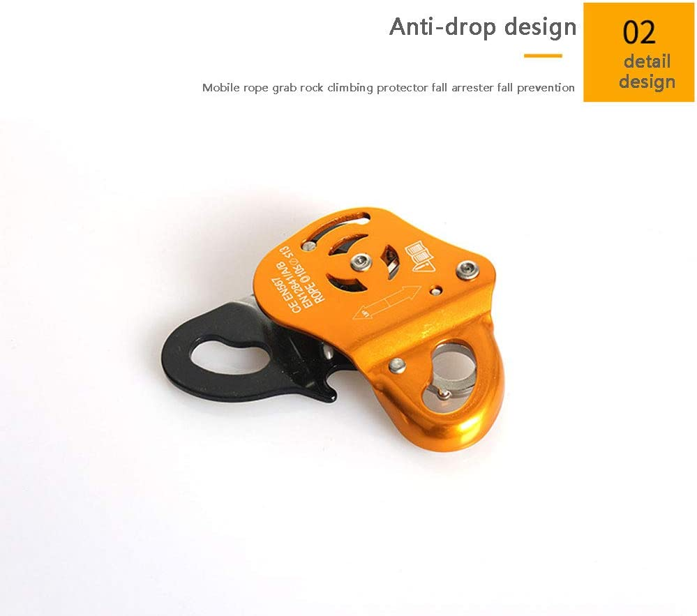 Applicable Rope Diameter 10-13mm NANANA Outdoor Rock Climbing Zip Line Cable Rope Trolley Aluminum Magnesium Alloy Zipline Fast Speed Pulley for Zipline Hauling Rigging and Commercial Purposes