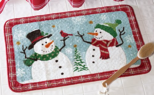 Snow Time Holiday Snowman Bath Rug
