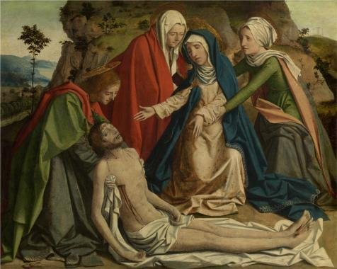 The Perfect Effect Canvas Of Oil Painting 'Josse Lieferinxe - The Lamentation Over The Dead Christ, 15th Century' ,size: 30x38 Inch / 76x95 Cm ,this High Definition Art Decorative Canvas Prints Is Fit For Kids Room Decoration And Home Decoration And Gifts