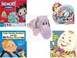 Childrens Gift Bundle - Ages 3-5 [5 Piece] - Ni Hao Kai-Lan Edition Memory Game - MGA Kachooz Feature Rocking Horse Toy - TY Beanie Baby - Happy the Hippo - Tyler Timothy Bradford and the Birthday