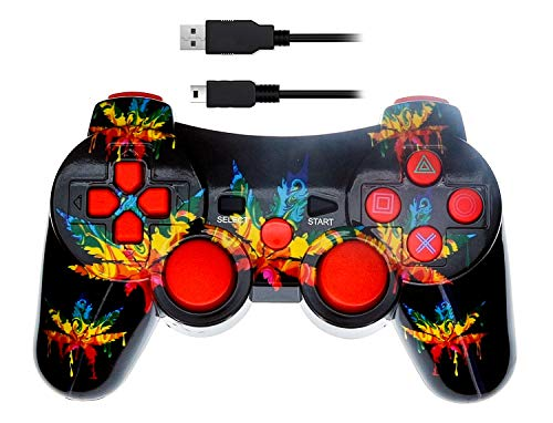 Arsenal Gaming PS3 Bluetooth Controller LEAF DRIP Design NEW CURVE Design