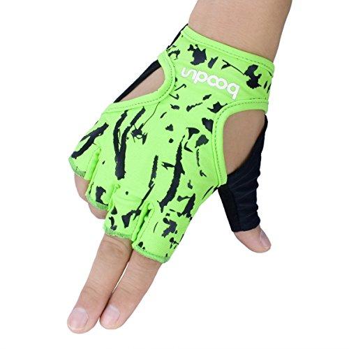Boodun Biking Gloves,Fitness Antiskid Half Finger Cycling Gloves Instrument Dumbbell Running Gloves for Women Girls Mother Child