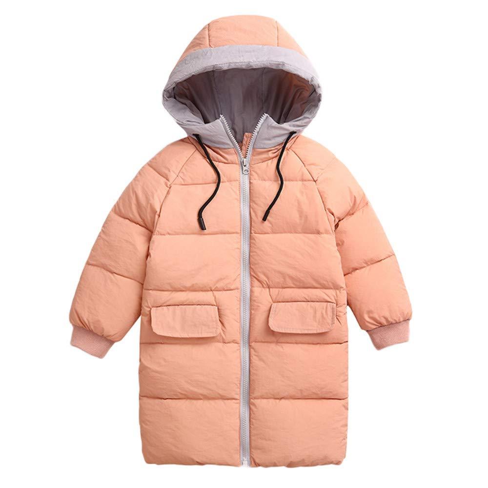 Dacawin Children Winter Warm Jacket Zipper Hoodie Windproof Coats for Girls Boys by Dacawin