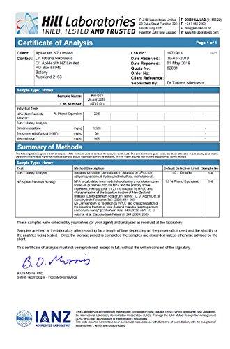 Manuka Honey 500g UMF 20+ (MGO ≥ 829) Pure New Zealand Honey 1.1 lb by API Health (Image #5)