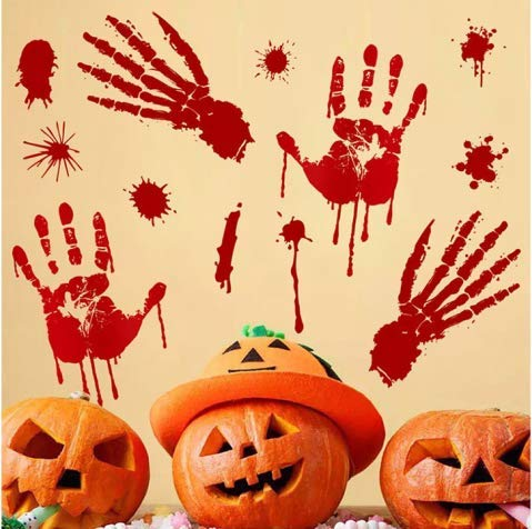 V-RULE Set di Decorazioni per Halloween - Halloween Zombie Scars Adesivi per  Tatuaggi - aa08b91d4044