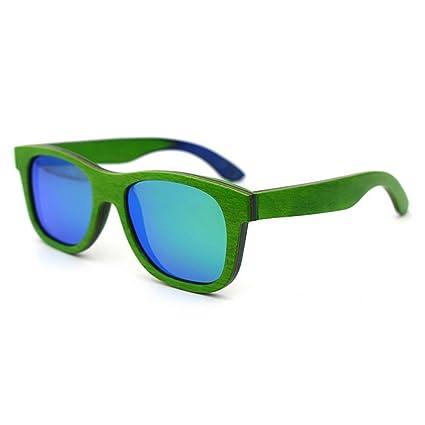 4847aaaf44 Aihifly Gafas de Sol polarizadas Colorido Estilo Retro de Madera Artesanal  Gafas de Sol con Bordes