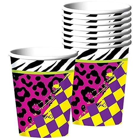 amscan 241223/Papier-Lampions im Stil der 80er Jahre