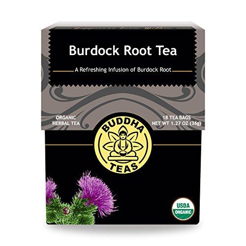 Organic Burdock Root Tea, 18 Bleach-Free Tea Bags - Caffeine Free, Antioxidant, Antiviral, and Anti-Inflammatory, Aids Digestive System, No GMOs