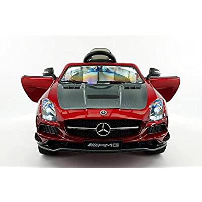 LICENSED MERCEDES SLS AMG FINAL EDITION 12V Kids Ride-On Car MP3+MP4 Color LCD Battery Powered RC Parental Remote + 5 Point Safety Harness (Limited Edition): Toys & Games