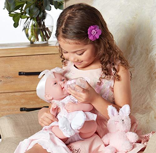 "51XaB%2B7M4gL - JC Toys La Newborn Baby Play Dolls, White, Pink, 15"""