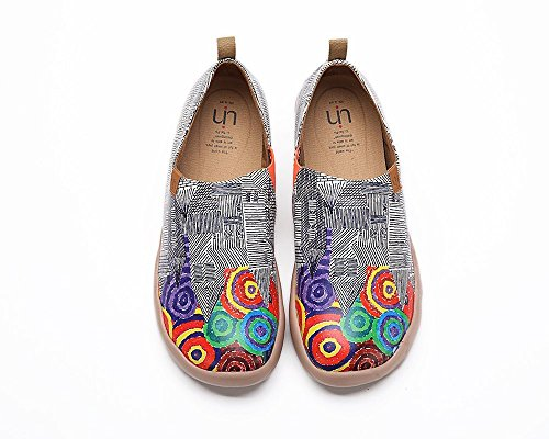 - UIN Men's Colorful Fireworks Travel Microfiber Walking Shoes Black&White (41)