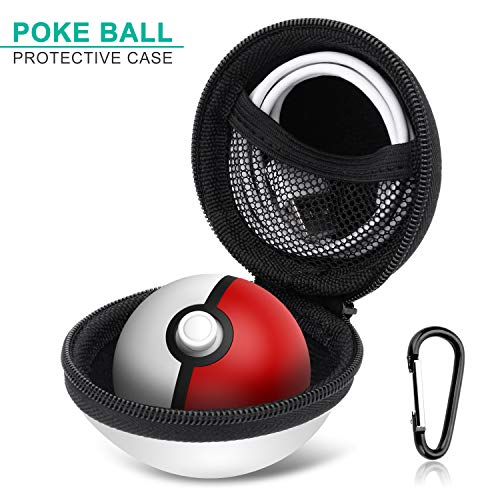 Poke Ball Plus Case Protective EVA Cover and Skin for Pokémon Lets Go Pikachu Eevee Game for Nintendo Switch Carrying Case