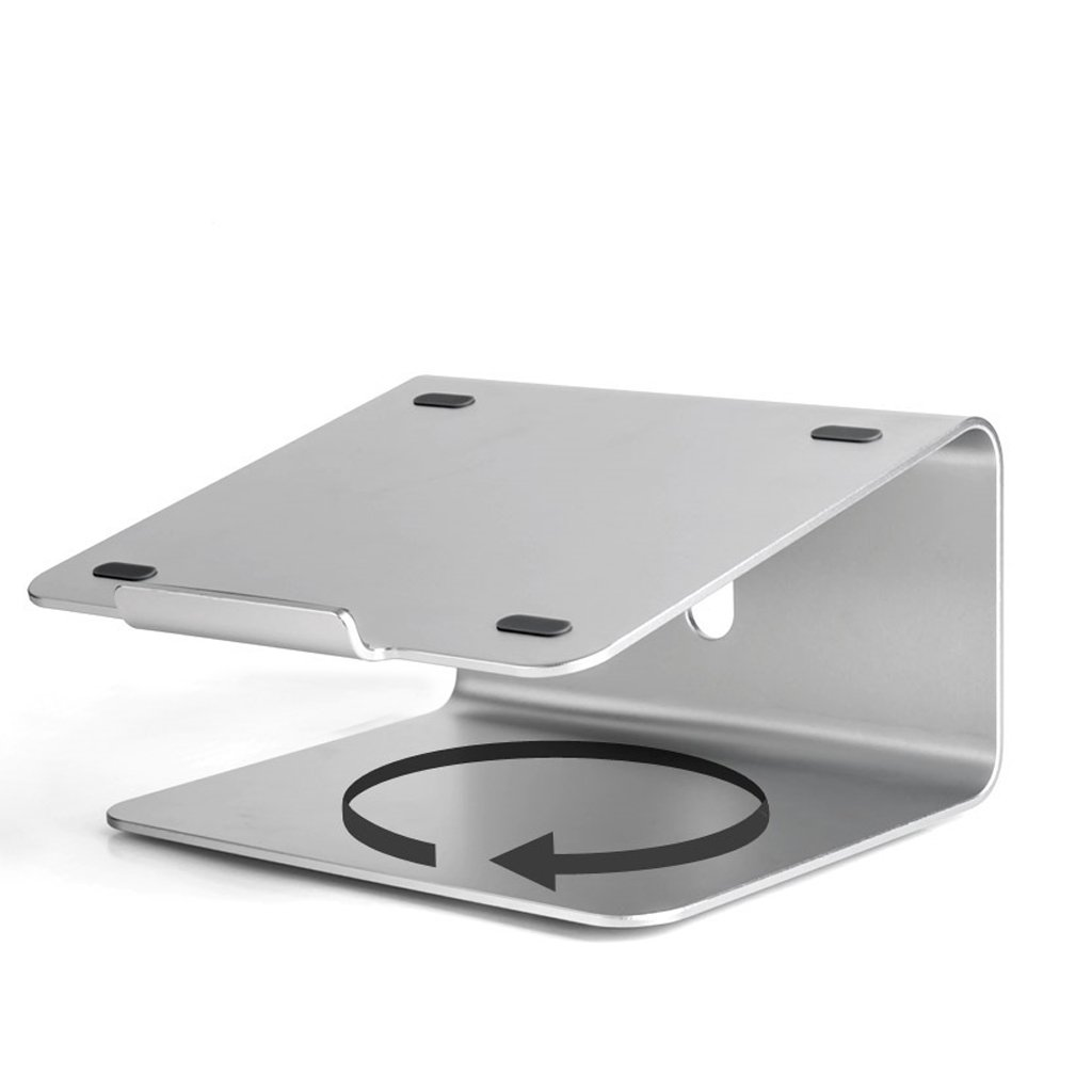 XY Soap dish Notebook Stand, Aluminum Rotary Universal Desktop Notebook Stand, Macbook Computer Base With Cervical Spine, Rotating Base Design, Silicone Non-Slip Design, 240mm 135mm 235mm