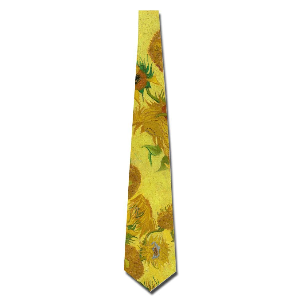 Atoggg Men's Vincent Willem Van Gogh Sunflower Skinny Tie Necktie Ties