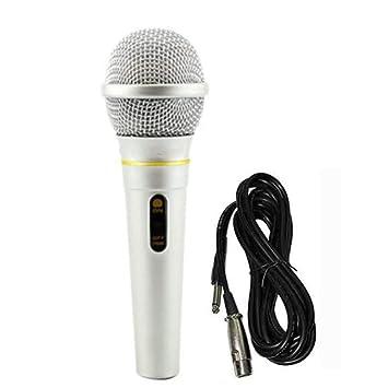 Shukun Micrófono Micrófono de karaoke con cable de mano profesional Micro estudio de grabación de micrófono