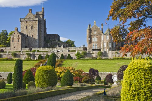 Drummond Castle, Perthshire, Scotland, Great Britain Giclee Art Print Poster or Canvas