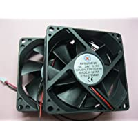 2 pcs Brushless DC Cooling Fan 24V 8025S 7 Blades 2 wire 80x80x25mm Sleeve-bearing Skywalking