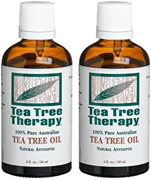 Tea Tree Therapy 100 Pure Australian Tea Tree Oil, 2 Ounce 2-Pack