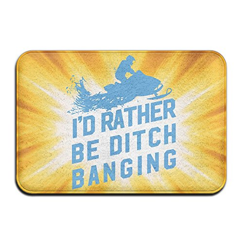 Youbah-01 Indoor/Outdoor Absorbs Mud Doormat With Banging Ditches Snowmobiling Graphic For Hallway