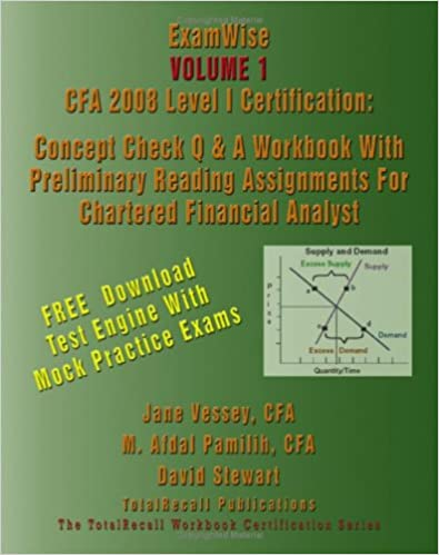 ExamWise® Volume 1 CFA 2008 Level I Certification With Preliminary ...