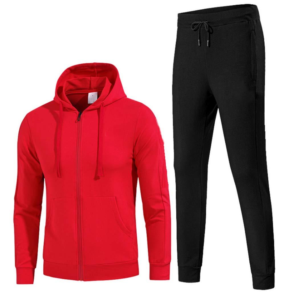 Lilongjiao Herren Sportanzug Frühling und Herbst Baumwolle Laufen Sportbekleidung langärmelige Outdoor-Freizeit Laufbekleidung Fitness-Kleidung zweiteilig