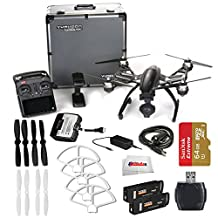 YUNEEC Q500 4K Typhoon Quadcopter with CGO3-GB Camera and Aluminum Case includes SanDisk 64GB Extreme Pro microSD + High Speed Card Reader + 2 Pairs Ultimaxx White Propeller Blades & More!!!