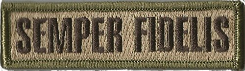 Tactical Morale Patch - Semper Fidelis - Multitan (1 Velcro Patch)