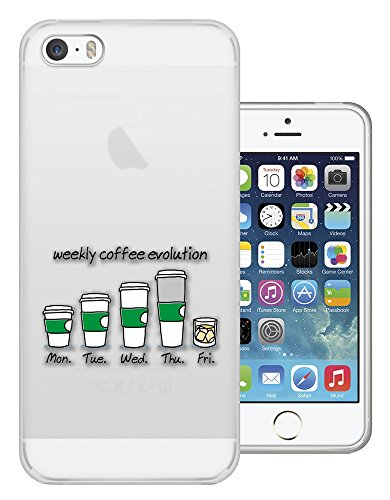 c01458 - Weekly Coffee Evolution Addict Design iphone 4 4S Fashion Trend CASE Gel Rubber Silicone All Edges Protection Case Cover