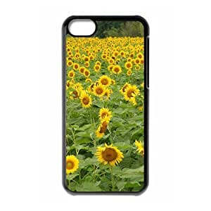 ALICASE Diy Hard Shell Case Sunflower For Iphone 5C [Pattern-1]