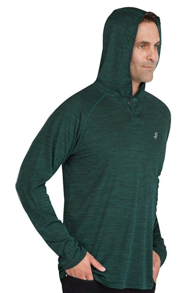 Three Sixty Six Mens Hoodies Pullover - Long Sleeve Casual Hoodie for Men - Lightweight Thin Hooded Sweater T Shirt Hunter Green