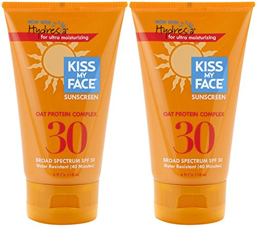 Kiss My Face Water Resistant Oat Protein Sun Screen SPF 30-4 oz, 2 (Sun Care Oat Protein)