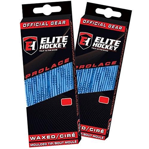 Elite Hockey Prolace Waxed Hockey Skate Laces -- SET of 2 Pairs (Columbia Blue, 108)