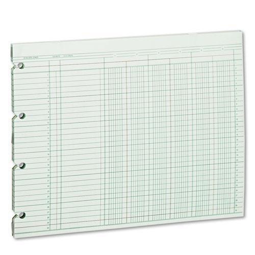 Wilson Jones. Accounting Sheets, Six Column, 9-1/4 x 11-7/8, 100 Loose Sheets/Pack, Green (G106) ()