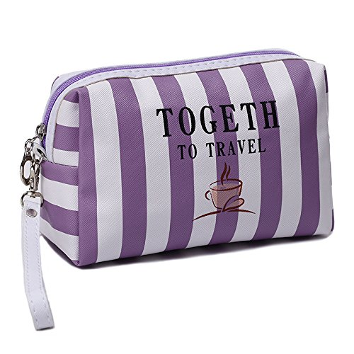 07f79257def CAI HONG-Beauty Makeup CCC Cosmetic bag fashion stripe wash bag large  capacity portable, F  Amazon.co.uk  Sports   Outdoors
