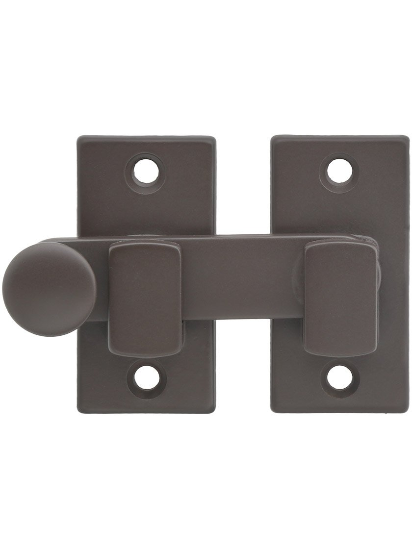 Plain Shutter Bar - Reversible for Right Hand and Left Hand in Oil Rubbed Bronze