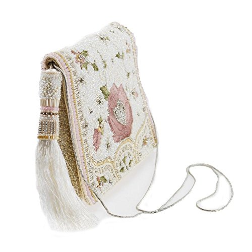 Blush Crossbody Handbag Floral Embroidered Beaded FRANCES MARY Mini qgxAU6wa5