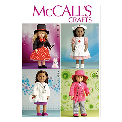 Candy Striper Nurse Outfit - McCall's Patterns M7031 Clothes for 18-Inch Doll, One Size
