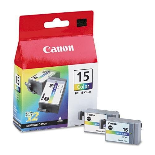 Canon BCI15 (BCI-15) Ink, 130 Page-Yield, 2/Pack, (Bci 15 Tri Color)
