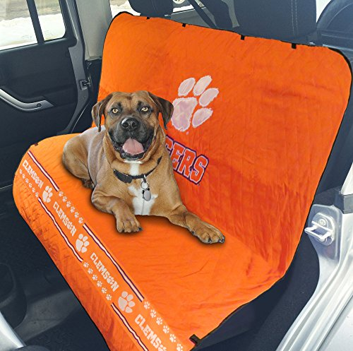 (Pets First Collegiate Clemson Tigers Pet Car Seat Cover)