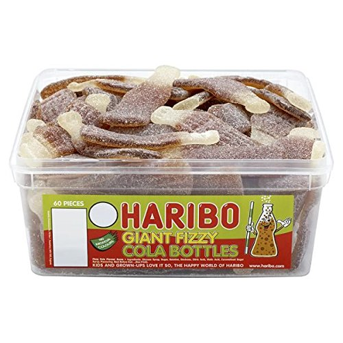 Haribo Giant Fizzy Cola Bottles (Tub of 60)