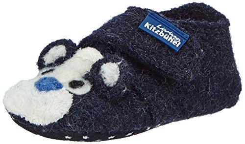 Living Kitzbühel Newborn Mäuschen - pantuflas de lana Bebé-Niñas azul - azul (590 nachtblau)
