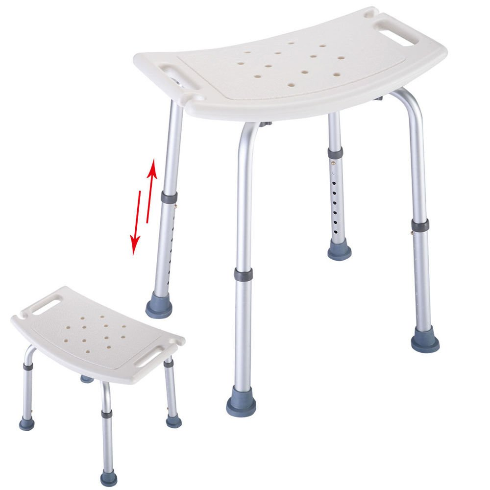 Adjustable Bath Tub Shower Chair 7 Height Bench Stool Seat
