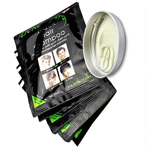 UniM Natural Ingredients Instant Black Hair Dye Shampoo Semi-Permanent Black Hair Color 5/10 Packs (5Pack Black)
