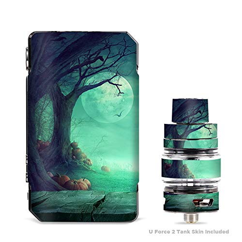IT'S A SKIN Decal Vinyl Wrap for VooPoo Drag 2 V2 & UForce T2 Tank Vape Sticker Sleeve Cover/Halloween Tree Moon]()