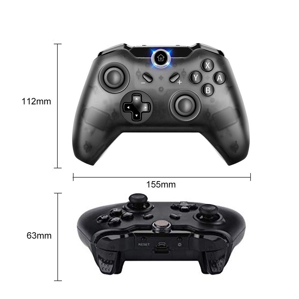 Pro Controller for Switch, PowerLead Wireless Gamepad Compatible with  Nintendo Switch Console Windows PC, Supports Gyro Axis Function & Shock