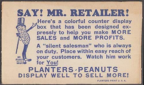 Say! Mr Retailer! Planters Peanuts vendor retailer reorder reminder card ()